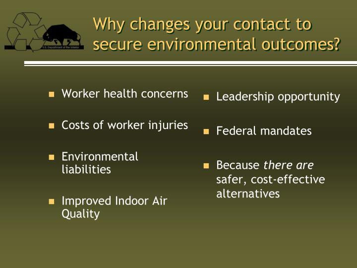 Worker health concerns