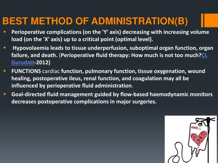 BEST METHOD OF ADMINISTRATION(B)