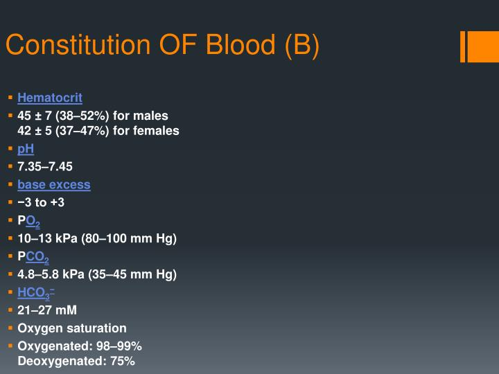 Constitution OF Blood (B)