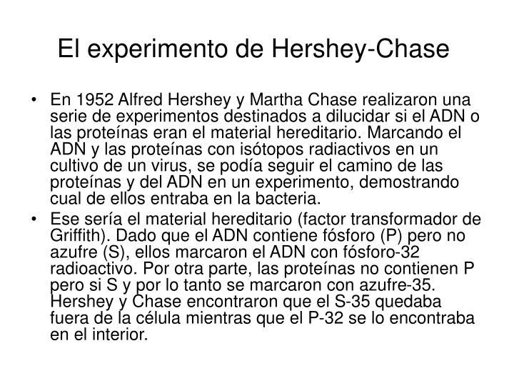 El experimento de Hershey-Chase