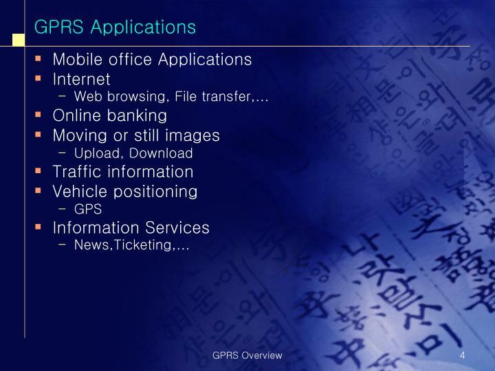 GPRS Applications