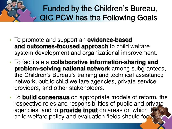 Funded by the Children's Bureau,
