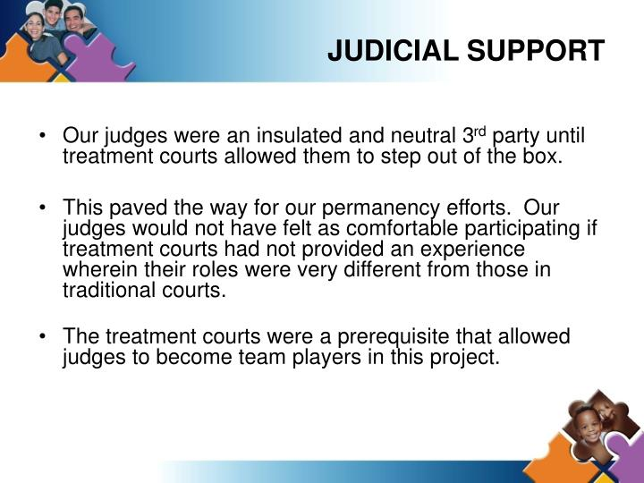 JUDICIAL SUPPORT
