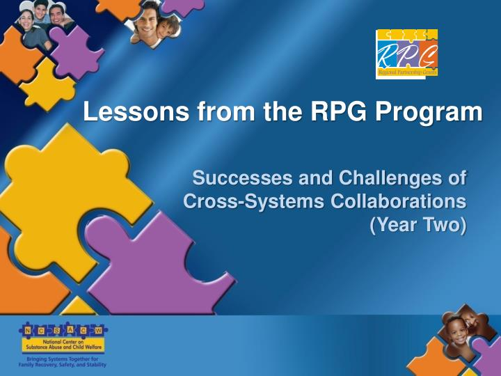 Lessons from the RPG Program