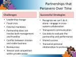partnerships that persevere over time
