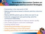 roundtable discussion centers on challenges and successful strategies