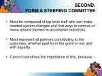 second form a steering committee