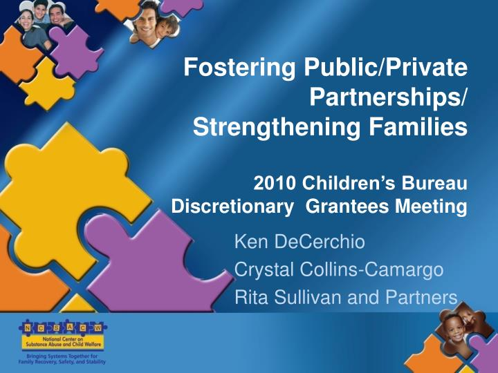 Fostering Public/Private Partnerships/