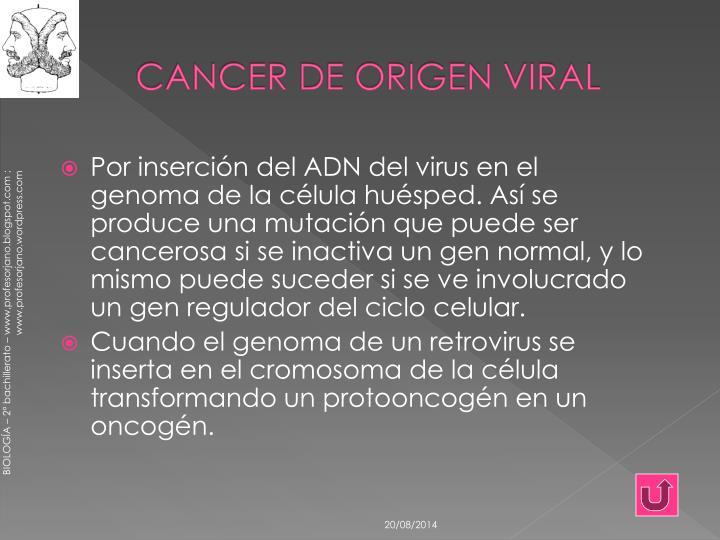 CANCER DE ORIGEN VIRAL