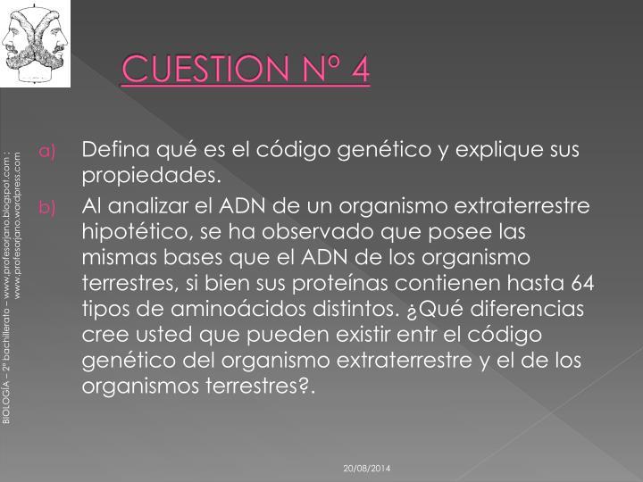 CUESTION Nº 4