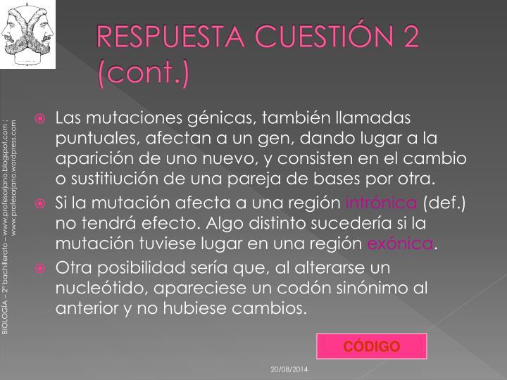 RESPUESTA CUESTIÓN 2 (cont.)