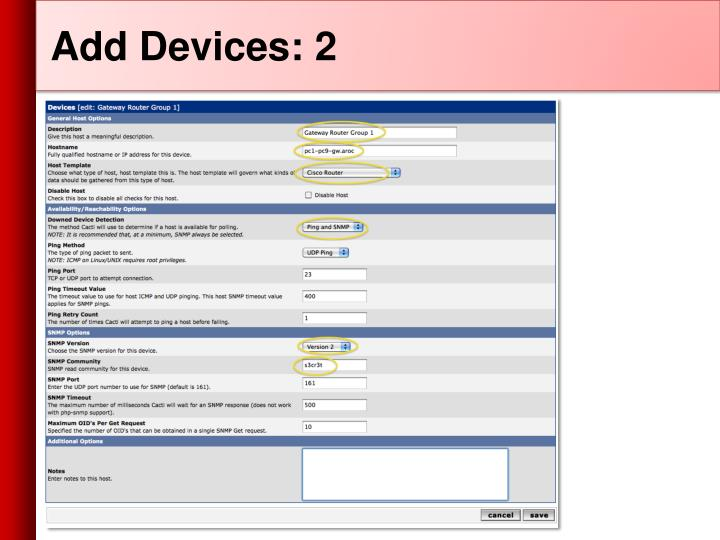 Add Devices: 2