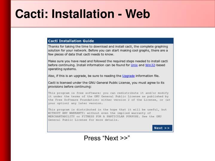 Cacti: Installation - Web