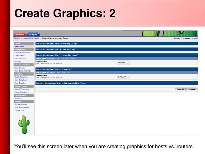 Create Graphics: 2
