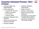 consumer admission process start of cares