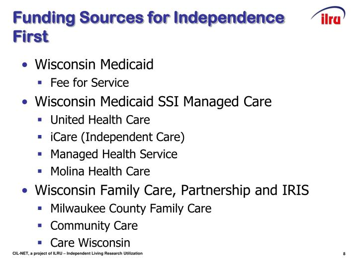 Funding Sources for Independence First