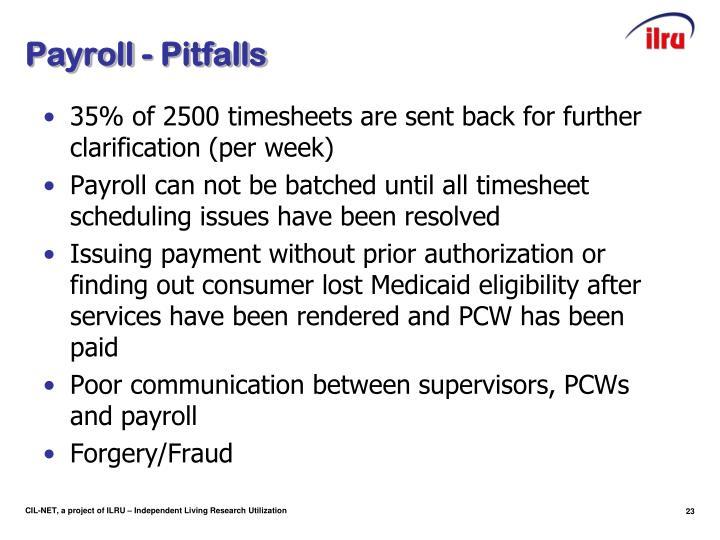 Payroll - Pitfalls