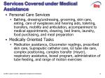 services covered under medical assistance