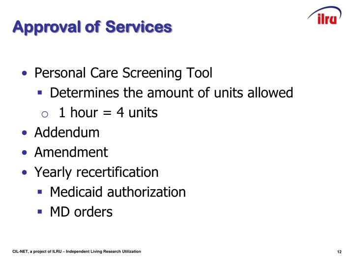 Approval of Services