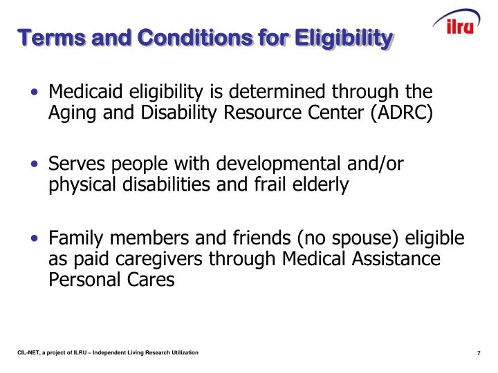 Terms and Conditions for Eligibility