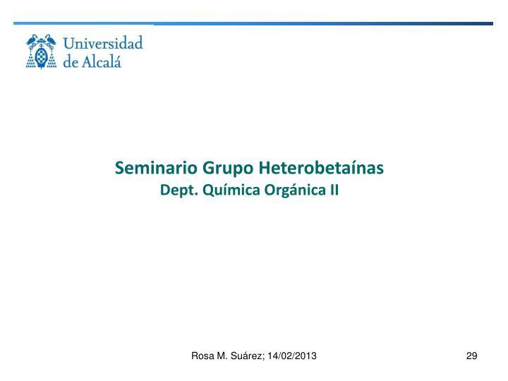 Seminario Grupo Heterobetaínas