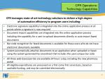 cpr operations technology capabilities