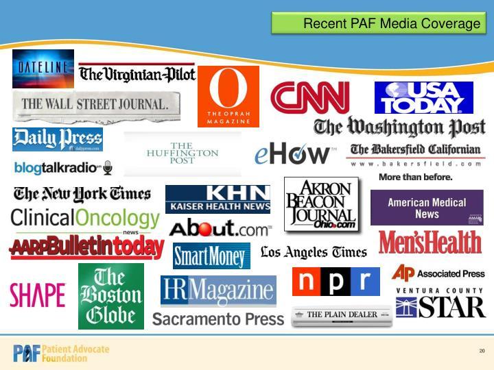 Recent PAF Media Coverage
