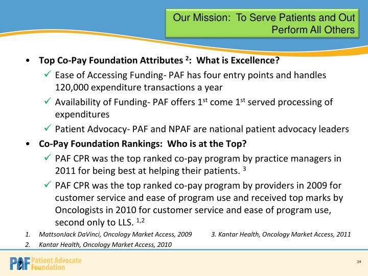 Our Mission:  To Serve Patients and Out Perform All Others