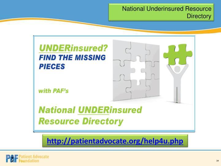 National Underinsured Resource Directory