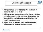child health support