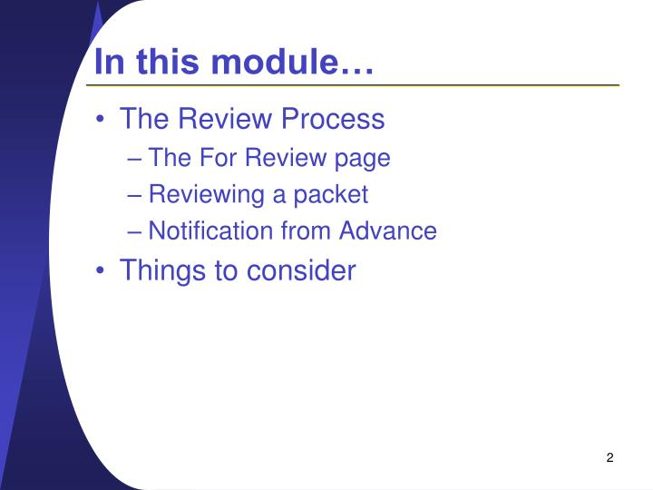 In this module…