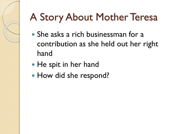 A Story About Mother Teresa