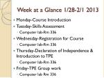 week at a glance 1 28 2 1 2013