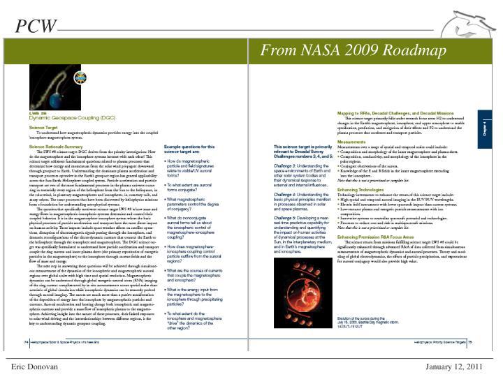 From NASA 2009 Roadmap