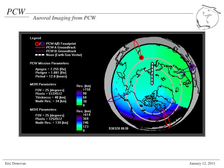Auroral Imaging from PCW