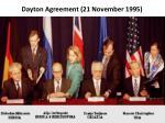 dayton agreement 21 november 1995