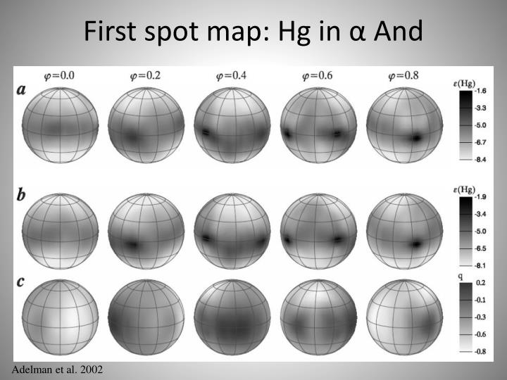 First spot map: Hg in