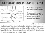 indications of spots on hgmn star and