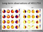 long term observations of hd11753