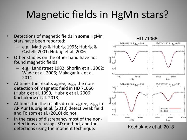 Magnetic fields in HgMn stars?