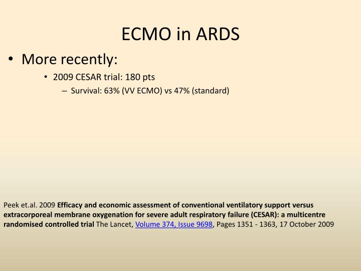 ECMO in ARDS