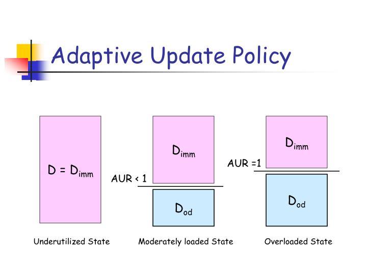 Adaptive Update Policy