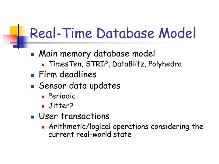 Real-Time Database Model
