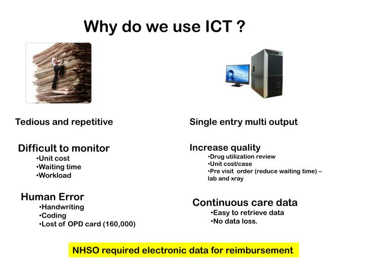 Why do we use ICT ?