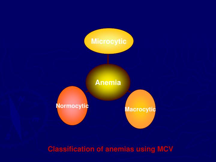 Classification of anemias using MCV