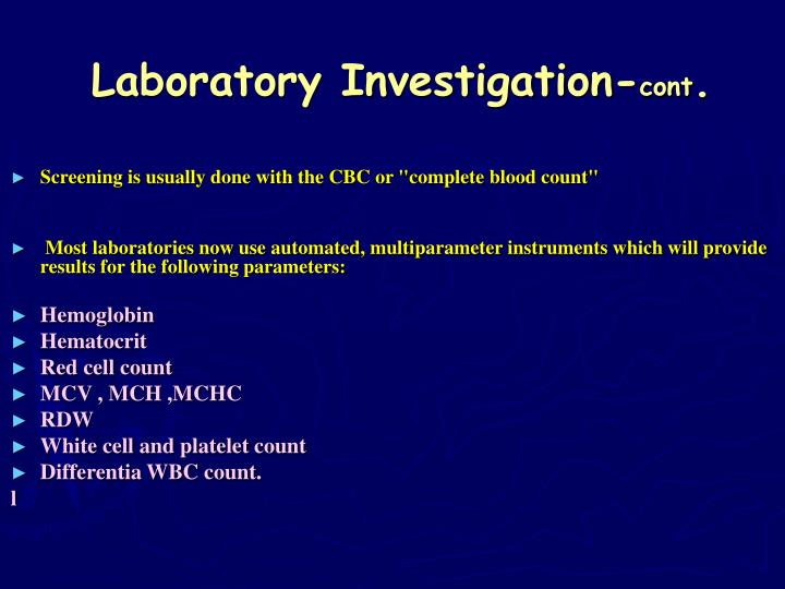 Laboratory Investigation-