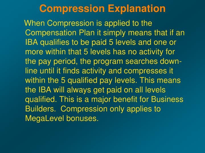 Compression Explanation