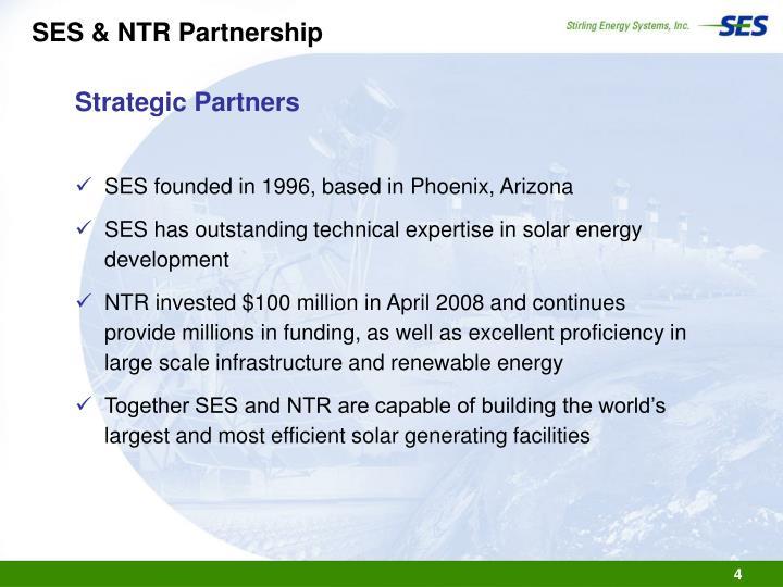 SES & NTR Partnership