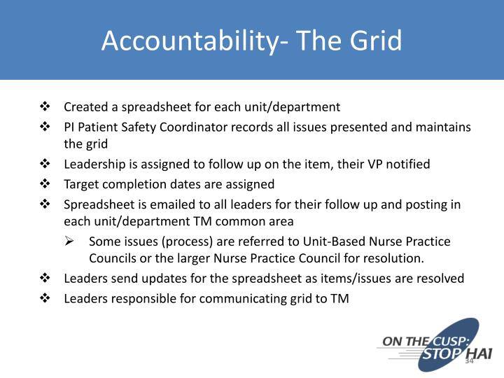 Accountability- The Grid