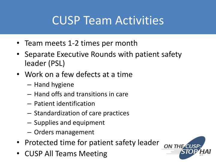 CUSP Team Activities